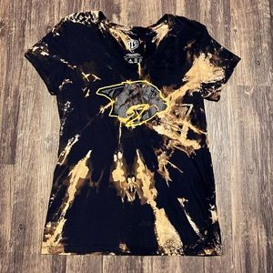 Nashville Predators Custom Bleach Dye T-shirt L